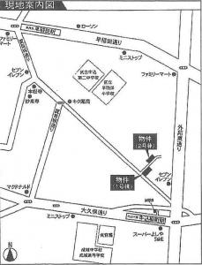 テラスハウス早稲田1の地図