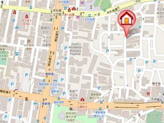 クリオ東新宿壱番館の地図