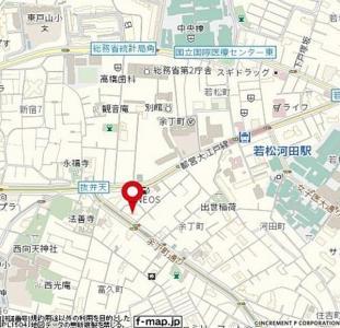ラ・コスタ新宿余丁町の地図